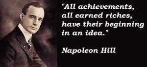 '94 an idea Napoleon Hill